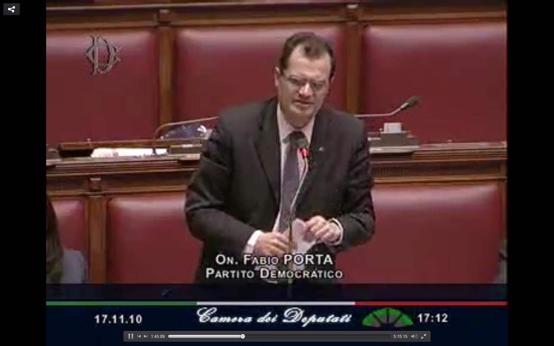 Numero 396 della xvi legislatura deputato fabio porta for Sito della camera dei deputati